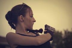 Lara jordlapp Cosplay Fotografering för Bildbyråer