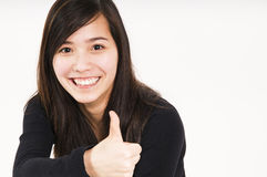 Lara thumbs up Royalty Free Stock Photo