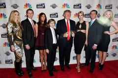 Lara Yunaska, Eric Trump, triunfo de Melania, Barron Trump, Donald Trump, Ivanka Trump, Donald Trump Jr , Tiffany Trump Imagenes de archivo