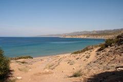 Lara zatoki plaża w Cypr Zdjęcia Royalty Free
