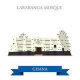Larabanga meczet w Ghana ilustracja wektor