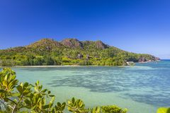 Laraie Bay on Curieuse island, Seychelles Royalty Free Stock Photo