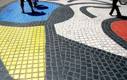 Larambla-Mosaik Barcelona Stockfotografie