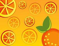 Laranja abstrata da ilustração da fruta Fotos de Stock