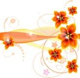 A laranja abstrata floresce o fundo Fotos de Stock Royalty Free