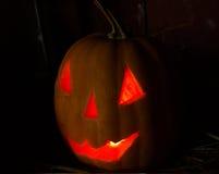 Laranja assustador Dia das Bruxas da abóbora Imagem de Stock Royalty Free