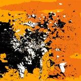 Laranja branca do preto do fundo do Grunge isolada Foto de Stock Royalty Free