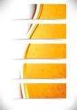 A laranja brilhante acena a coleção dos pés de página dos encabeçamentos Imagens de Stock
