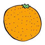 laranja cômica dos desenhos animados Imagens de Stock