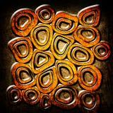 A laranja circunda o fundo do grunge Fotografia de Stock Royalty Free