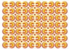 Laranja com vetor do backgound do círculo Imagem de Stock