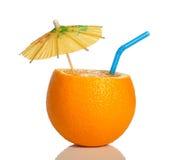 Laranja como uma bebida Foto de Stock Royalty Free