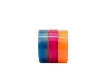 Laranja cor-de-rosa azul colorida do grupo esparadrapo da fita escocêsa fotos de stock royalty free