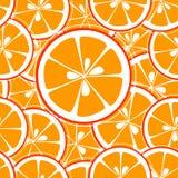 A laranja corta o fundo sem emenda ilustração royalty free