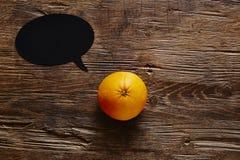 A laranja da bolha do discurso tem uma mensagem Imagens de Stock Royalty Free
