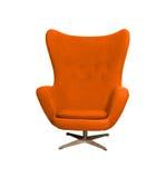 Laranja da cor da cadeira do braço Imagem de Stock