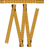 Laranja da regra de dobradura Imagem de Stock