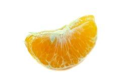 Laranja da tangerina da parte isolada Fotografia de Stock Royalty Free