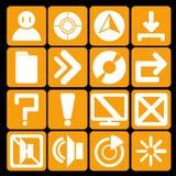Laranja da tecnologia do ícone Ilustração Stock