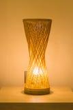 Laranja de bambu do candeeiro de mesa Fotos de Stock Royalty Free