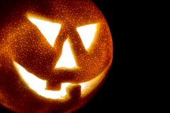 Laranja de Halloween. Fotos de Stock Royalty Free