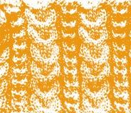 Laranja de lã feita malha da textura Imagens de Stock Royalty Free