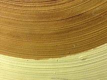Laranja de madeira lisa do amarelo do fundo Fotos de Stock