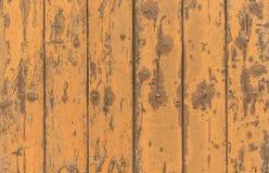 Laranja de madeira suja das pranchas colorida Foto de Stock