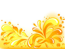 A laranja deixa cair o fundo Imagens de Stock