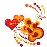 Laranja do coração Imagens de Stock Royalty Free