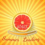 Laranja do fruto Barra de carga do verão Fotografia de Stock Royalty Free