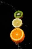 Laranja do limão do quivi Foto de Stock