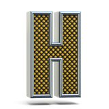 A laranja do metal de Chrome pontilhou a letra H 3D da fonte Fotografia de Stock Royalty Free