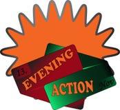 Laranja do sinal da ação da noite Imagem de Stock