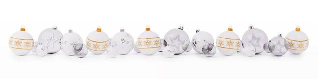 A laranja e as quinquilharias do White Christmas alinharam a rendição 3D ilustração royalty free