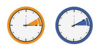 Laranja e azul da mudança do pulso de disparo ilustração stock