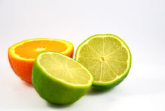 Laranja e limão frescos Fotografia de Stock Royalty Free