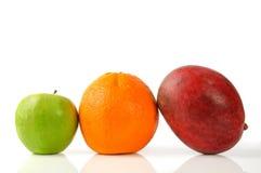 Laranja e manga verdes da maçã Foto de Stock