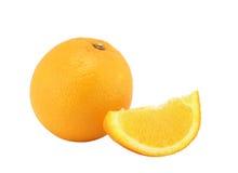 A laranja e o segme do todo Imagem de Stock