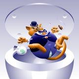Nenhuns gatos gordos 4: Gato na lata Fotografia de Stock