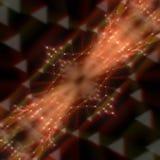 A laranja moderna abstrata alinha a rendição do fundo 3d Fotos de Stock Royalty Free