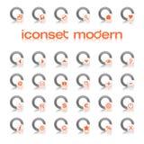 Laranja moderna de Iconset ilustração stock
