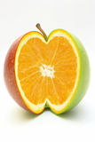 Laranja na maçã Fotografia de Stock