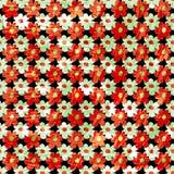 A laranja pequena floresce o teste padrão sem emenda da textura abstrata do grunge Foto de Stock