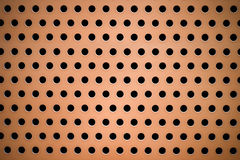 A laranja pintou o painel perfurado círculo do metal para a textura e o CCB Foto de Stock Royalty Free