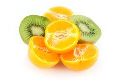 Laranja, tangerine e quivi Imagem de Stock Royalty Free