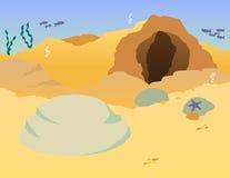 Laranja vívida do Seascape imagens de stock royalty free