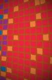 Laranja vermelha do fundo dos quadrados Fotos de Stock
