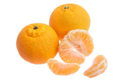 Laranjas do Tangerine Imagens de Stock Royalty Free