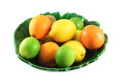 laranjas, limões, cais Fotos de Stock Royalty Free